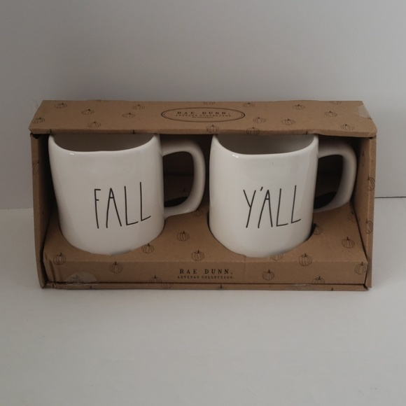 Rae Dunn -Set of 2 Coffe/Tea mugs Fall Y'all